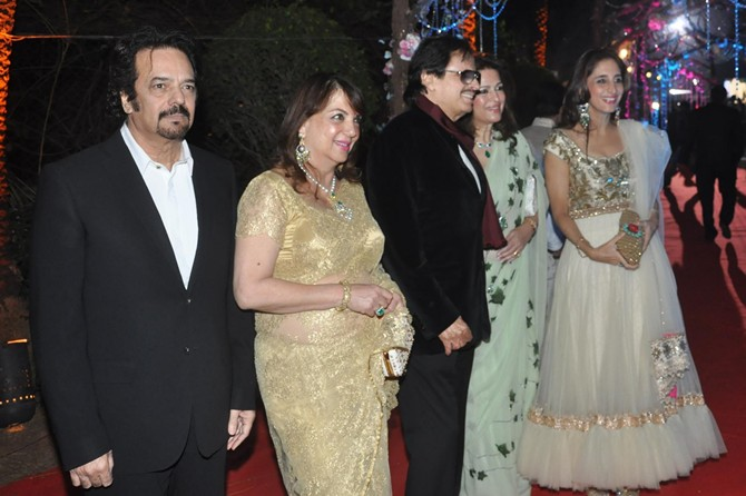 Akbar, Zarine, Sanjay and Farah Khan Ali