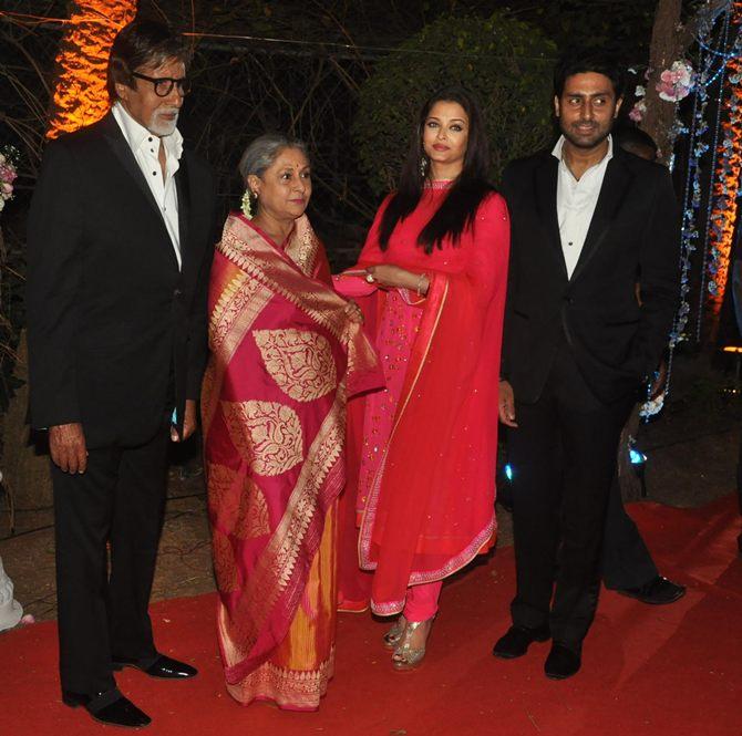 Amitabh, Jaya, Aishwarya Rai and Abhishek Bachchan