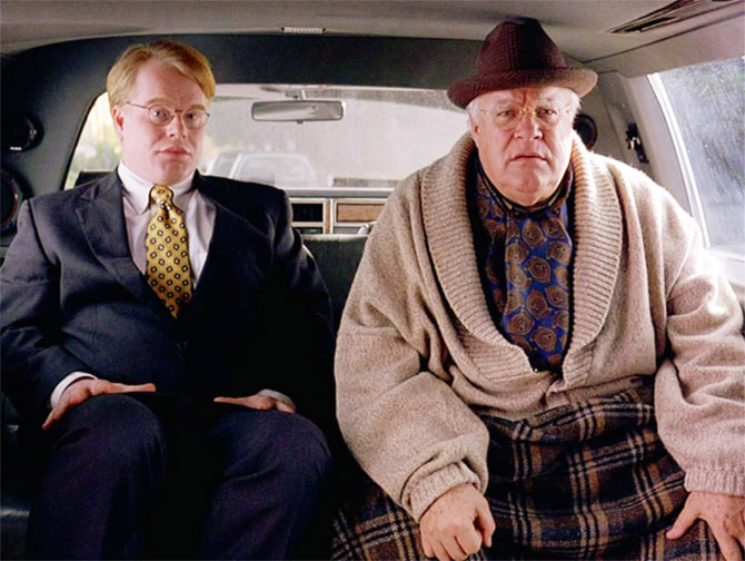 Philip Seymour Hoffman and John Goodman in The Big Lebowsk