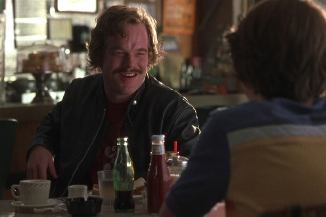 Philip Seymour Hoffman in Almost Famous.