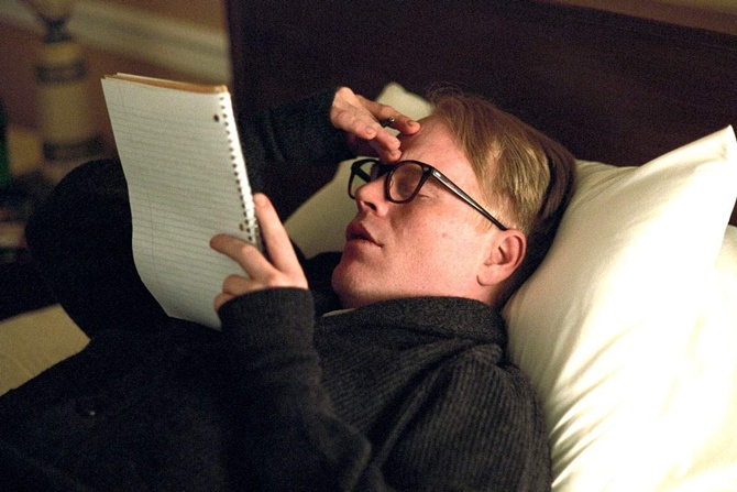 Philip Seymour Hoffman in Capote.