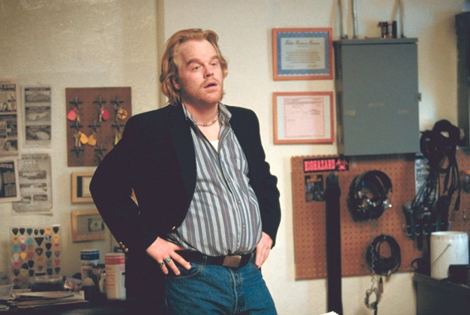 Philip Seymour Hoffman in Punch-Drunk Love.