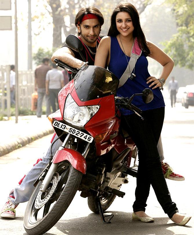 Ranveer Singh and Parineeti Chopra in Ladies vs Ricky Bahl