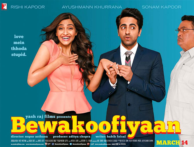 Movie poster of Bewakoofiyaan