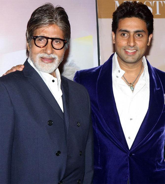 Amitabh and Abhishek Bachchan