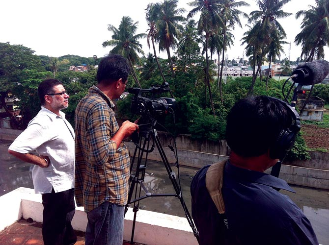 Karan Bali, left, shoots the documentary where Ellis R Dungan shot Sakuntalai (1940), Valmiki (Telugu, 1945) and Meera (1945).
