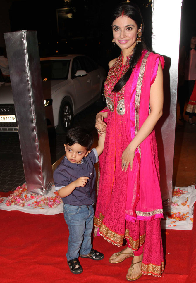 Divya Khosla Kumar with her son