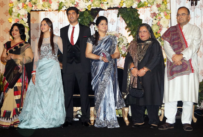 Arun and Sangeeta Jaitley with the family