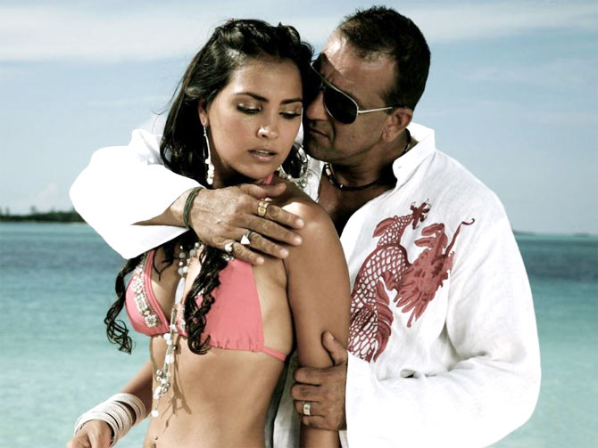 Lara Dutta and Sanjay Dutt in Blue