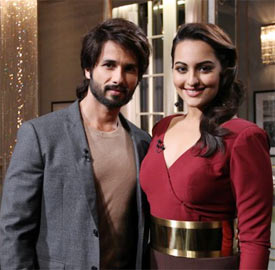 Shahid Kapur and Sonakshi Sinha in Koffee With Karan