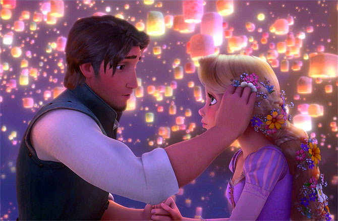 Movie still from Tangled