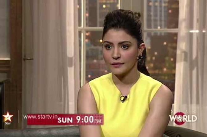 Anushka Sharma on Koffee With Karan