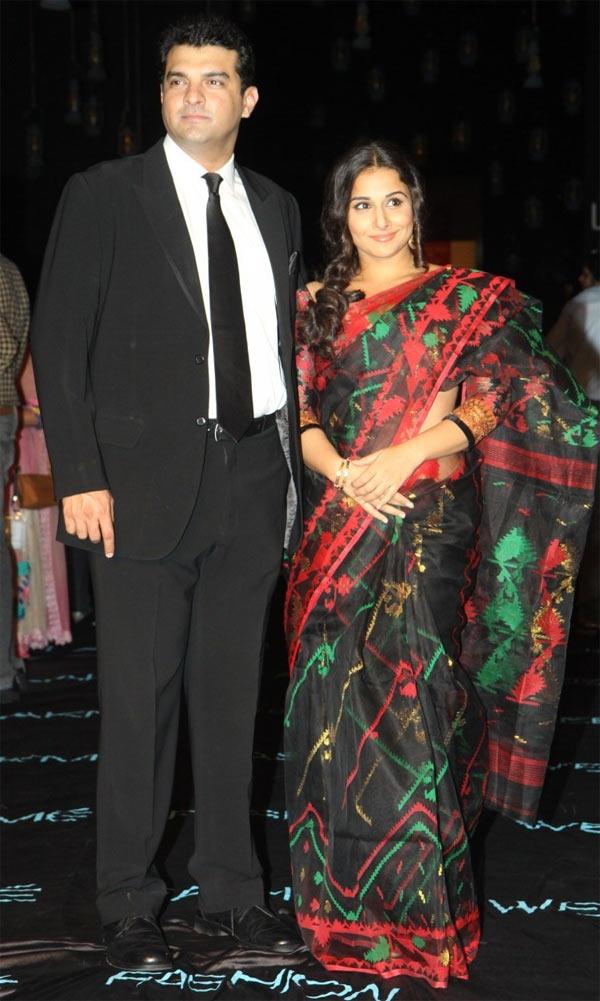 Siddharth Roy Kapur and Vidya Balan