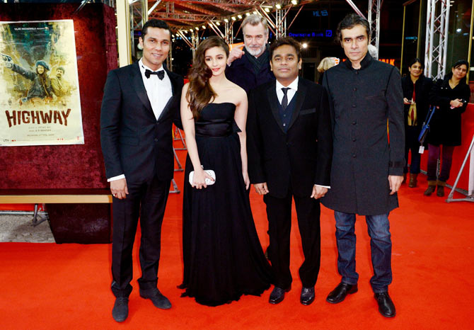 Randeep Hooda, Alia Bhatt, A R Rahman and Imtiaz Ali
