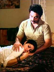 Kamal Haasan and Sridevi in Sadma