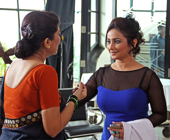 Divya Dutta (right) in Ragini MMS 2