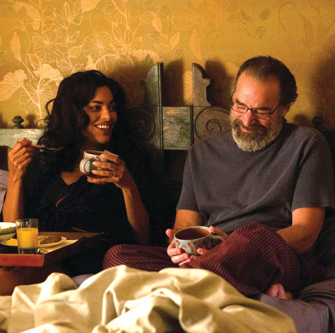 Sarita Choudhary and Mandy Patinkin in Homeland