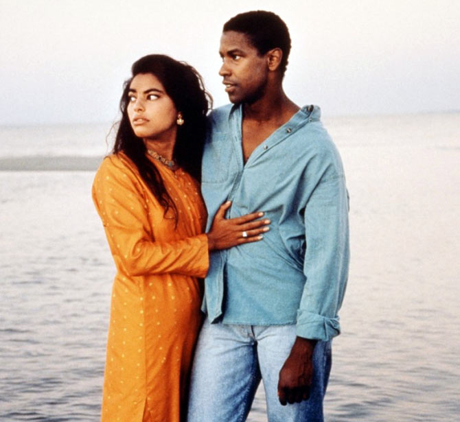 Sarita Choudhary and Denzel Washington in Mississippi Masala