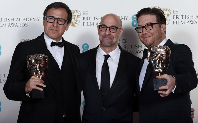 David O Russell, Stanley Tucci and Eric Warren Singer