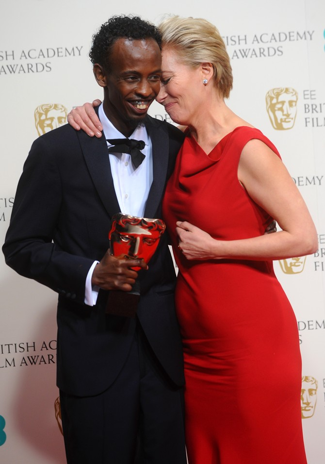 Actor Barkhad Abdi and Emma Thomson