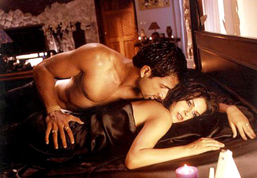 Aryan Vaid and Neha Dhupia in Sheesha