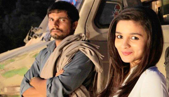 Alia Bhatt with Randeep Hooda