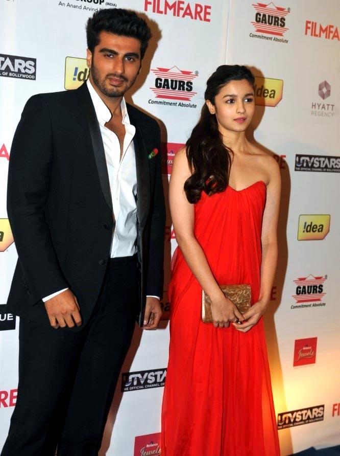 Alia Bhatt with Arjun Kapoor