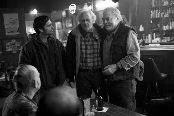 A scene from Nebraska, inset: Alexander Payne