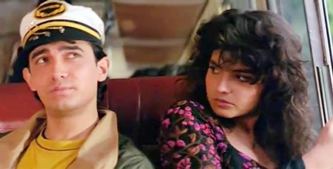 Pooja Bhatt with Aamir Khan in Dil Hai Ki Maanta Nahi