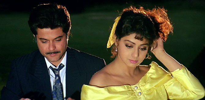 Sridevi and Anil Kapoor in Lamhe