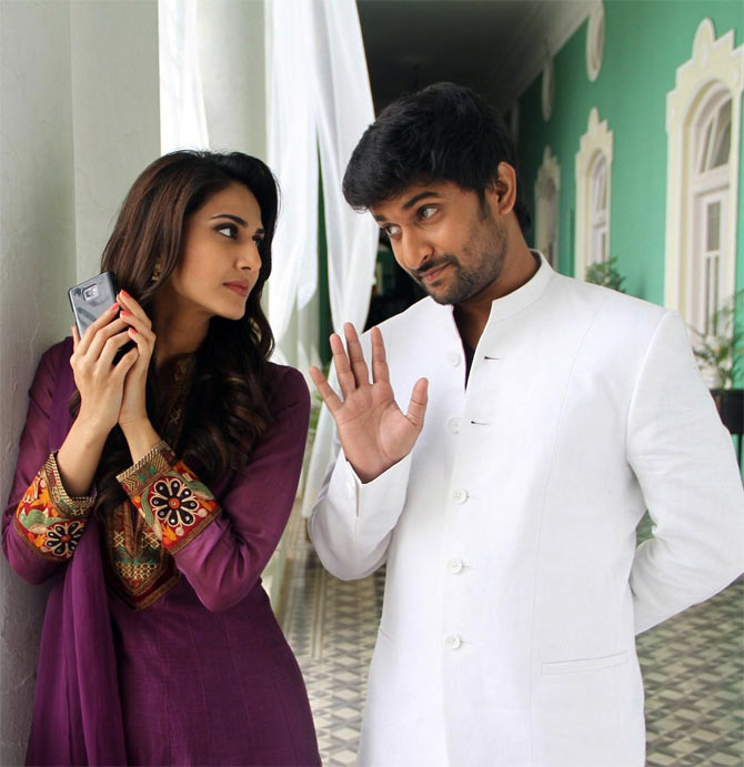 Vaani Kapoor and Nani in Aha Kalyanam