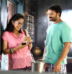 Aparna Gopinath and Jayasurya in Happy Journey