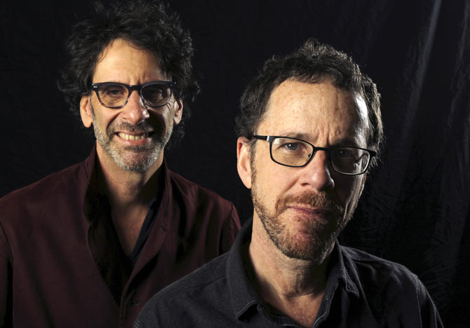 Joel and Ethan Coen at a photo session in Los Angeles, California