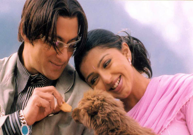 Salman Khan and Bhumika Chawala in Tere Naam