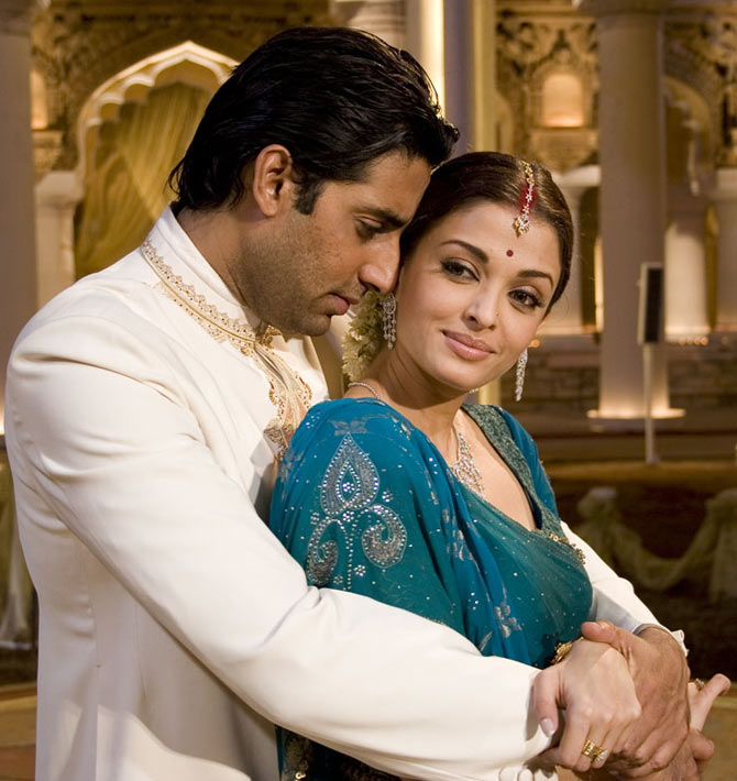Abhishek and Aishwarya Rai Bachchan in Guru