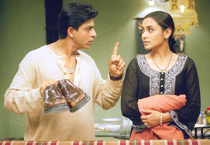 Shah Rukh Khan and Rani Mukerji in Chalte Chalte