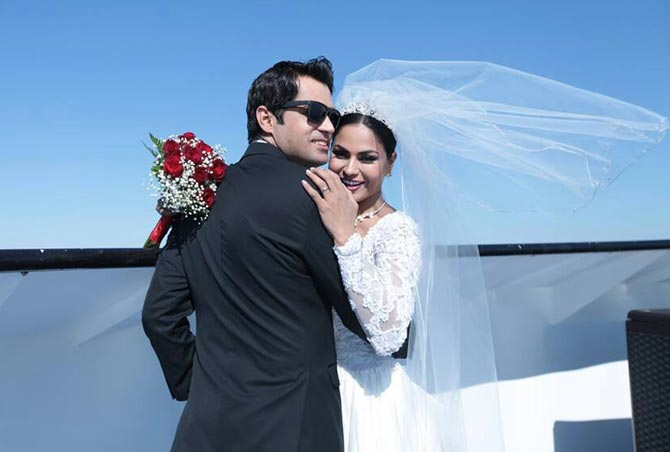 Asad Khan Khattak and Veena Malik