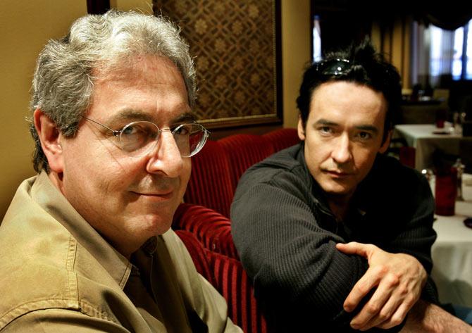 Harold Ramis, left, with John Cusack.