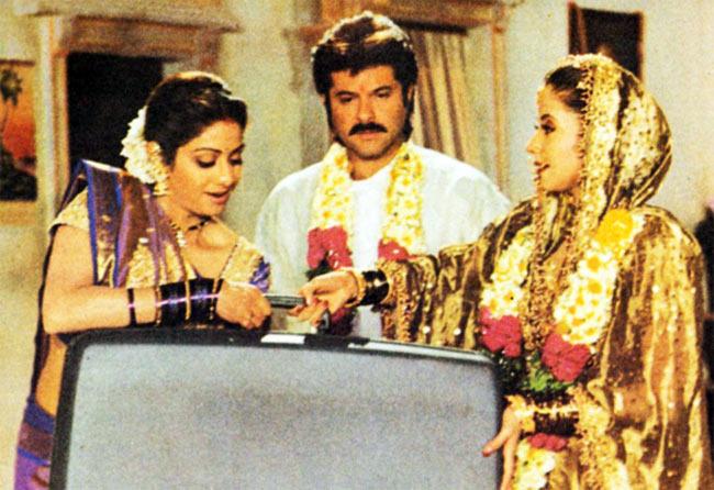 Sridevi, Anil Kapoor and Urmila Matondkar in Judaai