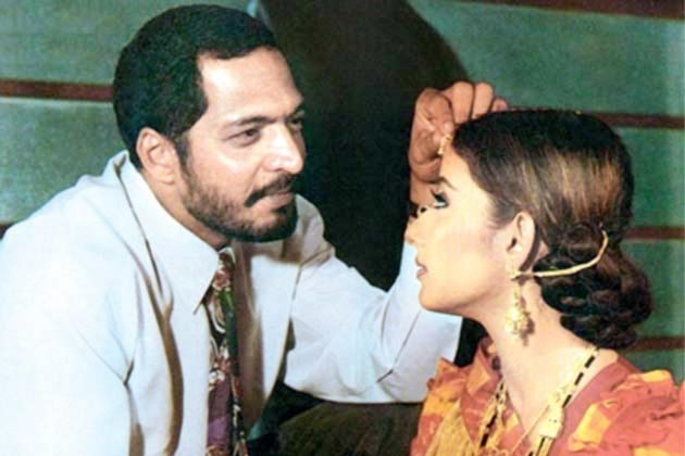 Nana Patekar and Manisha Koirala in Agni Sakshi