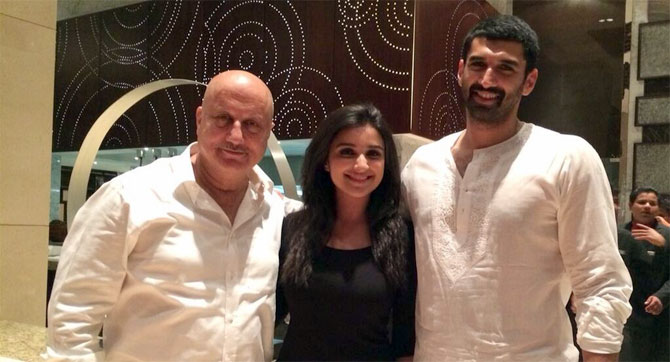 Anupam Kher, Parineeti Chopra and Aditya Roy Kapur