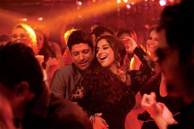 Vidya Balan and Farhan Akhtar in Shaadi Ke Side Effects