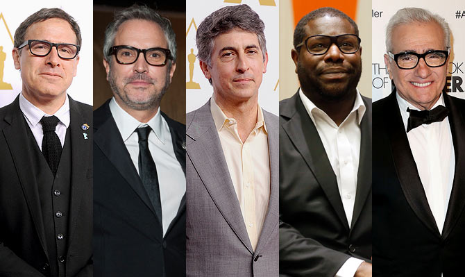 David O Russell, Alfonso Cuaron, Alexander Payne, Steve McQueen and Martin Scorsese