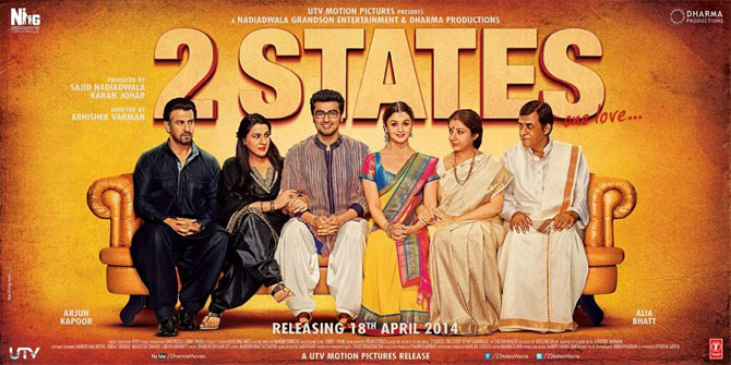 Movie poster of 2 States