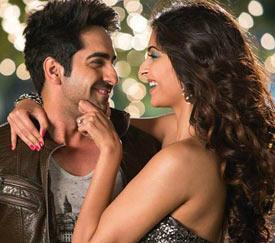 Ayushmann Khurana and Sonam Kapoor in Bewakoofiyaan