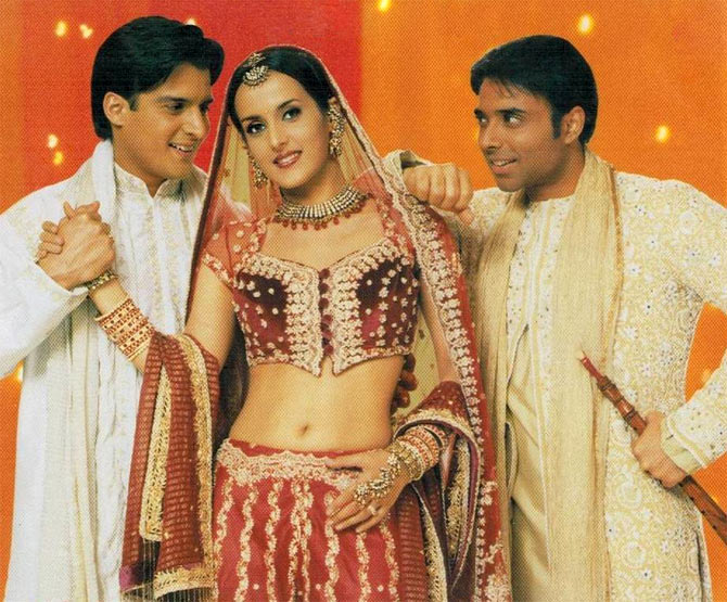 Jimmy Shergill, Tulip Joshi and Uday Chopra in Mere Yaar Ki Shaadi Hai
