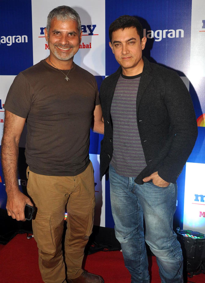 Amin Hajee and Aamir Khan