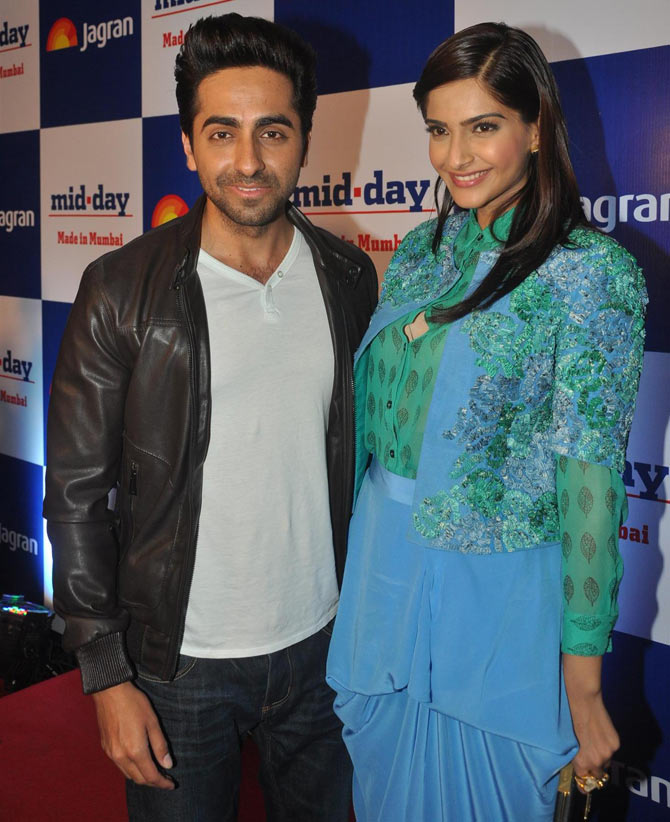 Ayushmann Khurrana and Sonam Kapoor