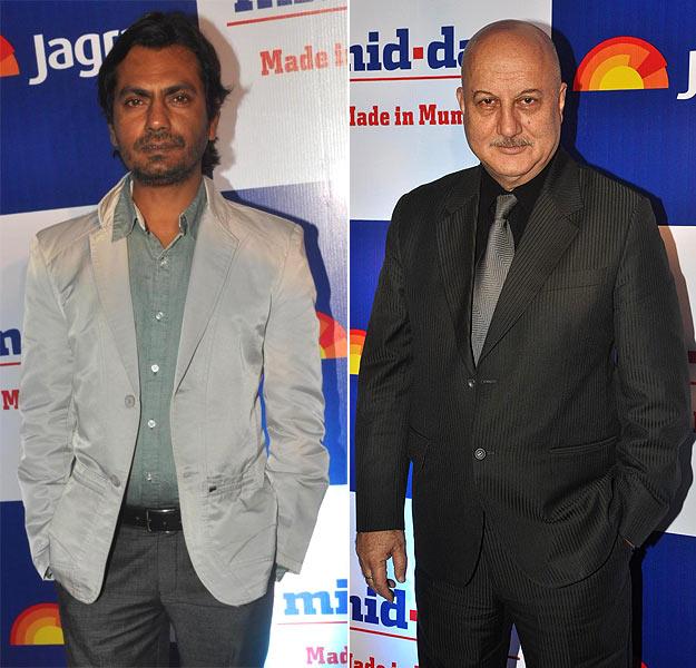 Nawazuddin Siddiqui and Anupam Kher