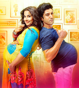 Vidya Balan and Farhan Akhtar in Shaadi Ke Side Effects